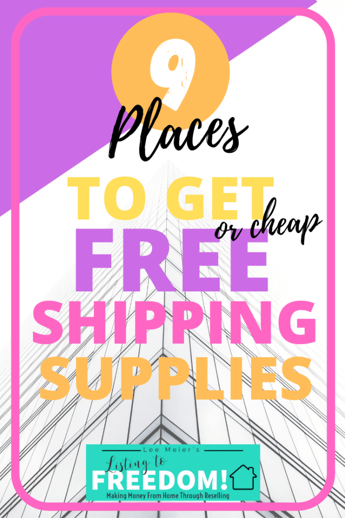 Free or Cheap eBay Shipping Supplies