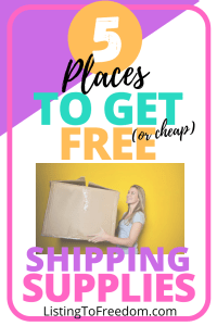 5 Places To Get Free Or Cheap Shipping Supplies