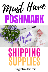 poshmark shipping supplies