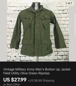 Vintage Miltary Jacket Sold On eBay