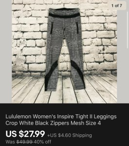 Lululemon Inspire Sold On eBay