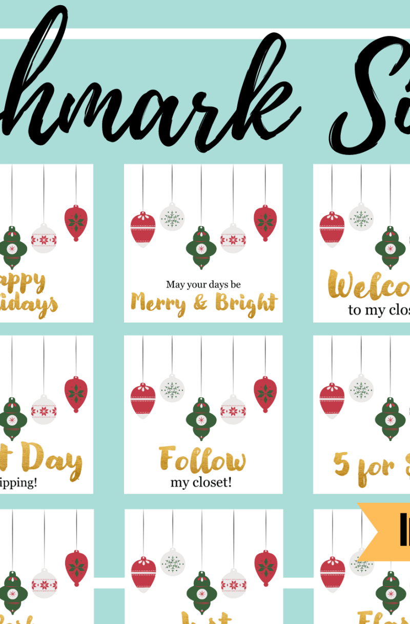 Poshmark Closet Signs (Set of 42) – Christmas Ornaments Instant Download