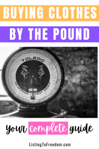 Buying Clothes By The Pound