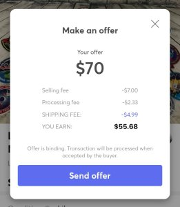 Sending Offers On Mercari