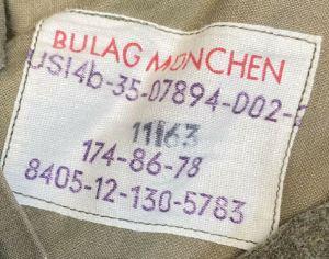 vintage clothing tags: german wool pants