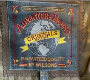vintage clothes to sell: wilson's tag