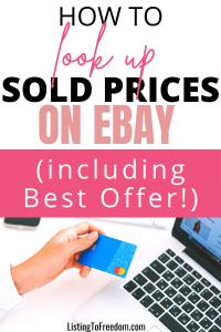 Look Up Sold Prices Ebay Best Offer