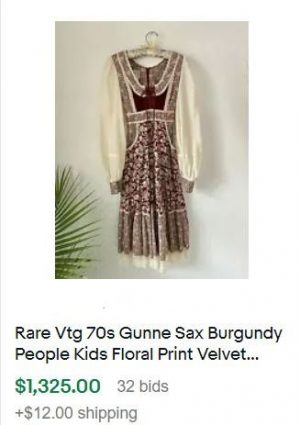 vintage clothes to sell - gunne sax dress