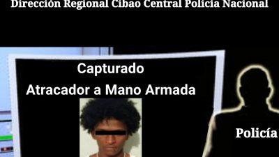 ES CAPTURADO ATRACADOR A MANO ARMADA DE BANCA REAL SANTIAGO.
