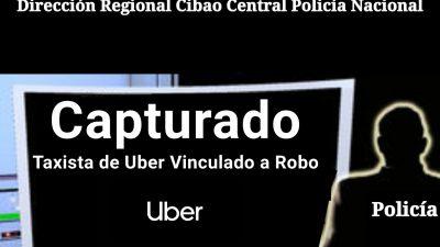 ACCIÓN RÁPIDA DE LA P.N. APRESA TAXISTA DE UBER VINCULADO A ROBO