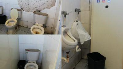Total Abandono de los baños en el Edificio Gubernamental Huacalito de Santiago.
