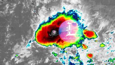 Alerta verde para 15 provincias por tormenta tropical Beryl.