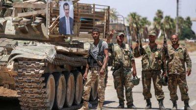 Ejército sirio conquista áreas controladas por los rebeldes.