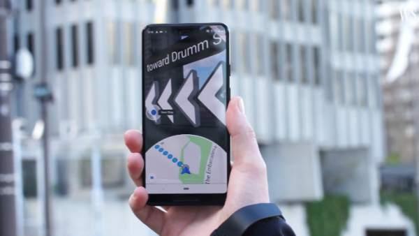 Así funciona la increíble función de realidad aumentada de Google Maps en el Pixel 3a