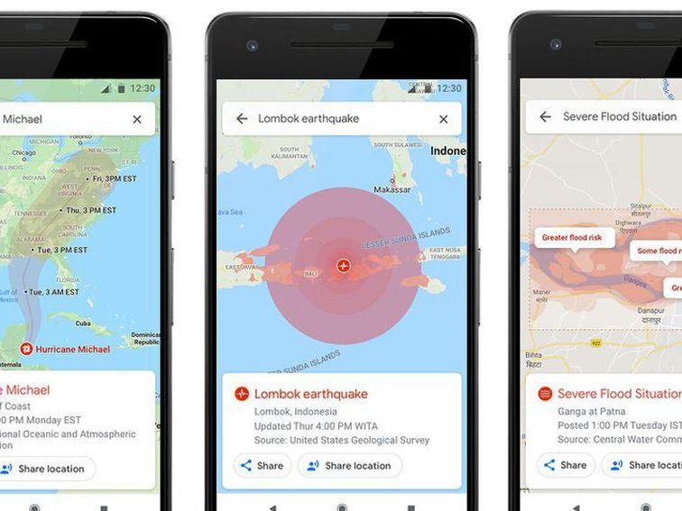 Google Maps ahora alertará a sus usuarios sobre caso de desastres como huracanes y terremotos