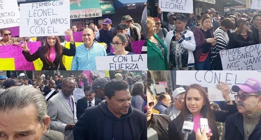 Dominicanos protestan en Alto Manhattan por supuesto fraude a Leonel