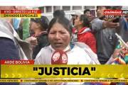 Queremos a Evo, dice boliviana a televisora argentina