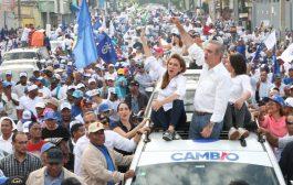 Abinader proclama el cambio va por todo en la capital y en el país