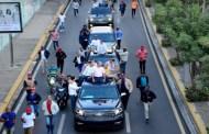 Candidato presidencial del PLD Gonzalo Castillo realiza caravana en Santiago con gran ausencia de militantes