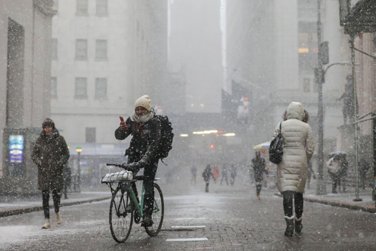 Frío, nieve, lluvia helada y fuertes vientos en NYC este fin de semana