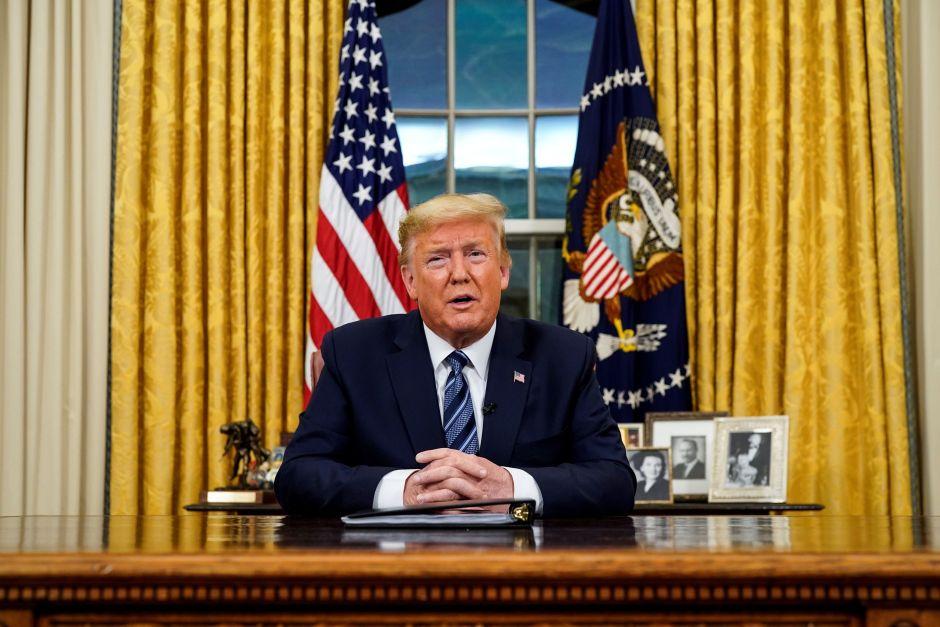 """Trump sobre la situación económica durante la pandemia del covid-19: """"Es una crisis médica, no financiera"""""""