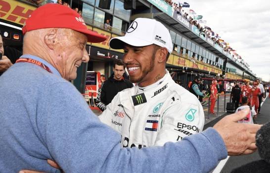 """""""Niki Lauda está en mi espíritu"""", dice Lewis Hamilton un año después de su muerte"""