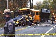 Varios niños y adultos heridos en choque violento de bus escolar en Nueva York