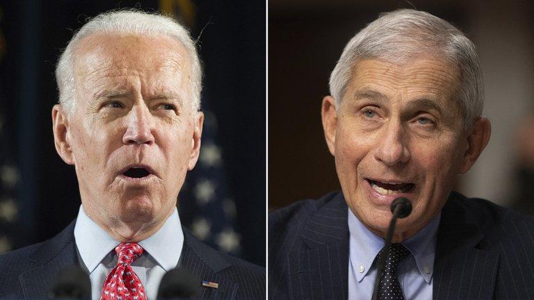 Joe Biden confirmó que Anthony Fauci seguirá al frente del equipo especial contra el coronavirus en EEUU