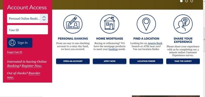 Ameris Bank Login