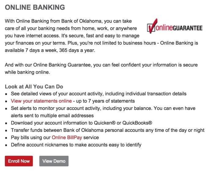 Bank of Oklahoma Enroll