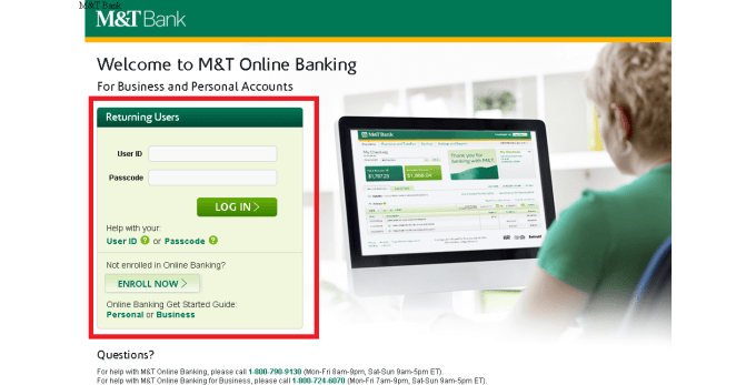 Banking M T Bank Enroll