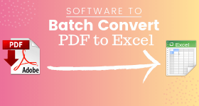 Batch Convert PDF to Excel
