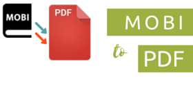 convert MOBI to PDF