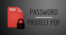 password protect PDF