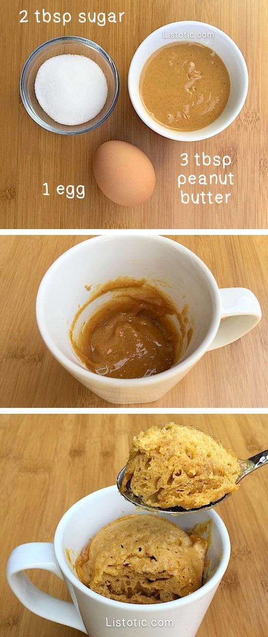 easy microwave peanut butter mug cake