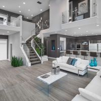 Dco Salon - Contemporary Living Room Design With White ...