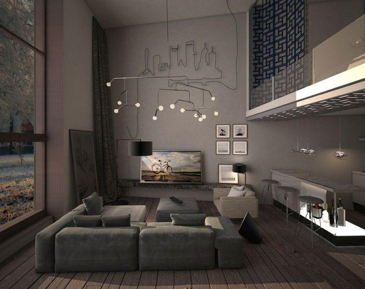 D Co Salon Salon Moderne Design Et Cocon En Couleurs Fonc Es Leading