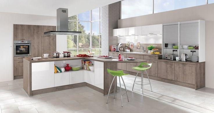 Idée relooking cuisine - modèle de cuisine moderne avec meubles de ...
