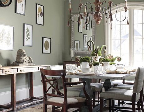 Salle A Manger Green Paint Color Inspiration House Beautiful