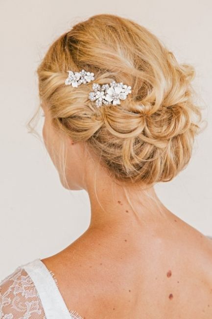 Chignon mariage 2017 cheveux mi long - Coiffure mariee 2017 ...