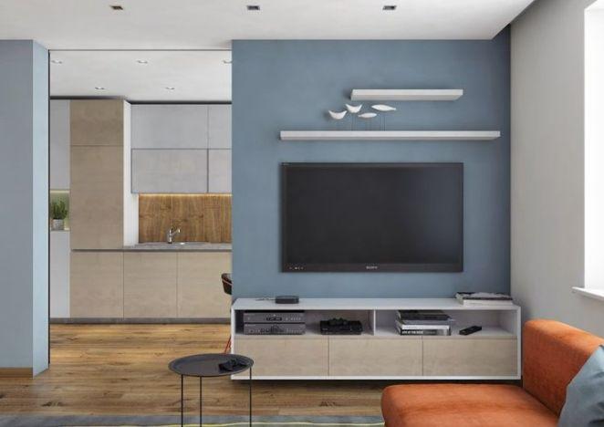 D co salon couleur gris taupe dans le salon moderne peinture murale bleu ciel table basse for Peinture table basse