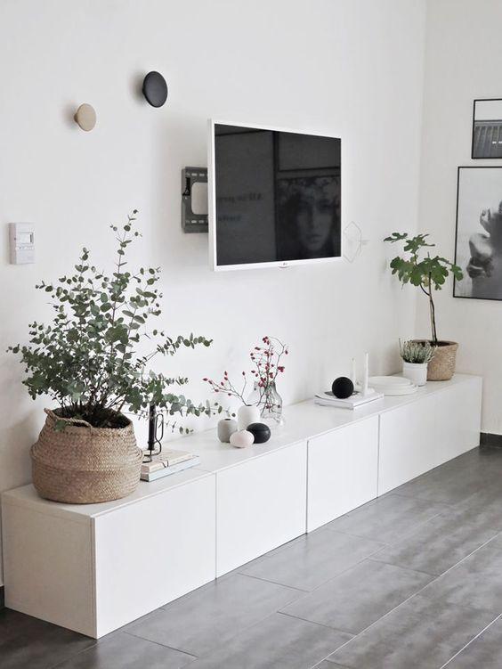 Déco Salon  Ikea Besta Sideboard Viel Stauraum