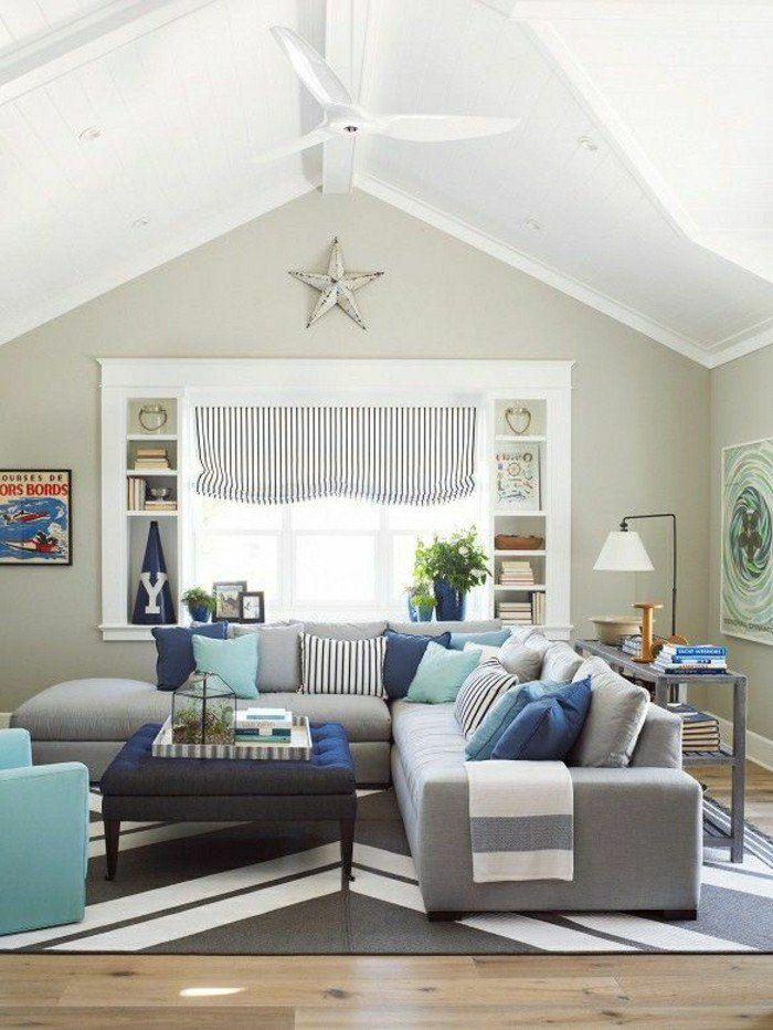 Déco Salon - joli design de salon moderne avec canapé d\'angle pas ...