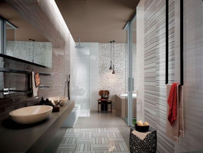 Id e d coration salle de bain carrelage sol salle de for Salle de bain sol carrelage imitation bois