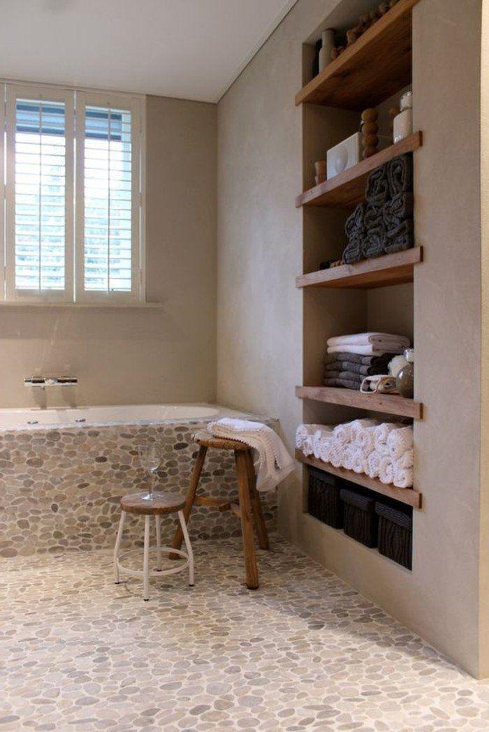 idée décoration salle de bain - jolie salle de bain avec cailloux ... - Salle De Bain Avec Galet