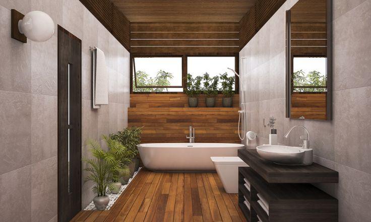 idée décoration salle de bain - plancher bois bain... - listspirit ... - Salle De Bain Sur Plancher