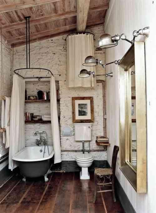 Idée décoration Salle de bain - sol avec parquet en bois dans une ...