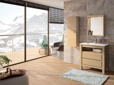 Id e d coration salle de bain salle de bains en couloir - Idee salle de bain bois ...