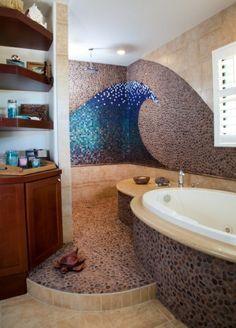 Idée décoration Salle de bain - décoration murale mosaique, une ...
