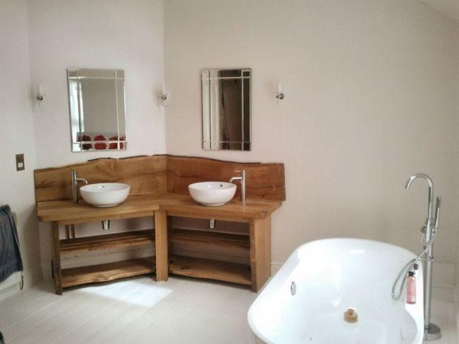 Idée décoration Salle de bain - Meuble Salle De Bain Bois Brut ...